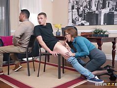 Sultry cougar Ivy Secret takes care of young pecker