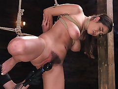 Merciless bondage for busty Karlee Grey