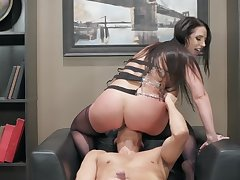 Angela White rides her boss until the man cums