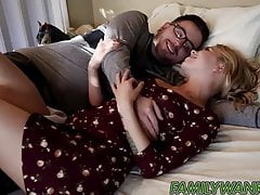 Supportive stepmom helps Alina get her ass fucked by bf