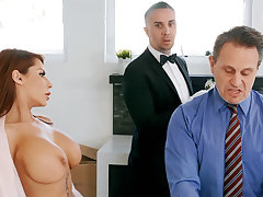 Horny butler is ready with anal fuck housewife