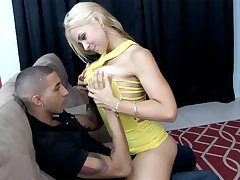 Booze-hound blonde fuck her husband's shy young gentleman