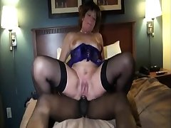 Interracial stockings hoe loves to be a gang prosperity big cheese
