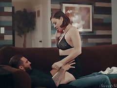 Tattooed seductress Sovereign Syre rides a dick and gets doggy fucked