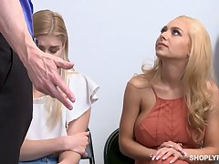 Blondie Nikki Squeak and will not hear of lovely show one's age are fucked for shoplifting