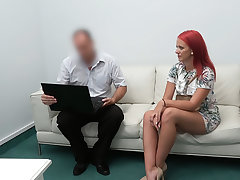 Redhead fucked chiefly the desk