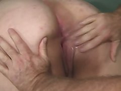 An old fart fulfills his wish to have sex with a big bottomed BBW floosie