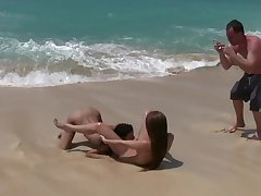 lesbians sand surf shoot
