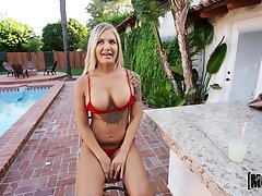 Stunning blonde Alison Avery gets her pussy banged like never to the fore