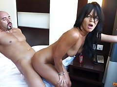 Insolent Asian bitch sure loves her butt hole gaped and soaked