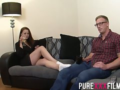 Having seduced nerdy dude Romanian nympho Lara Jade Deene enjoys riding bushwa