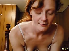 Redhead Affiliate Hookup Tries to Get Me To Cum Full Video First Time Together