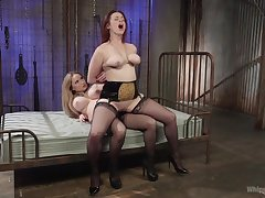Excellent strap-on porn for two fat ass lesbians
