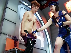 Nasty homophile sex with latex fetish. Snow Mercy & Ingrid Mouth