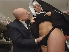 Nun And A Dirty Old Man - Hot Porn Instalment