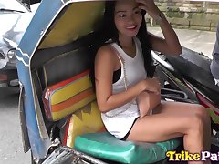 Fantastic Filipina cowgirl with big bubble ass Princess is made to ride cock