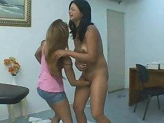 Brazilian lesbians, fisting on massage